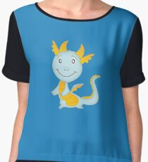 Cute Cartoon dragon Women's Chiffon Top
