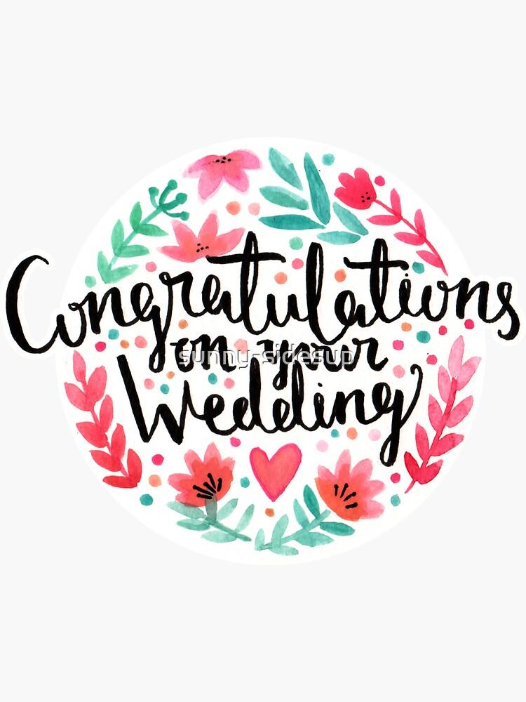 Hochzeits-Glückwünsche von sunny-sidesup