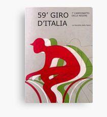 Retro Giro Poster Canvas Print