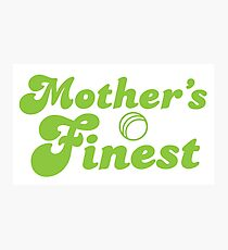Mothers finest with cricket ball Photographic Print