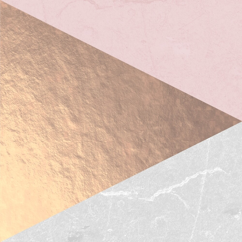 Geo tri - rose gold & concrete by Gale Switzer