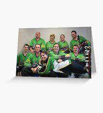 Senior C (Green) team Winter 2007 season Greeting Card