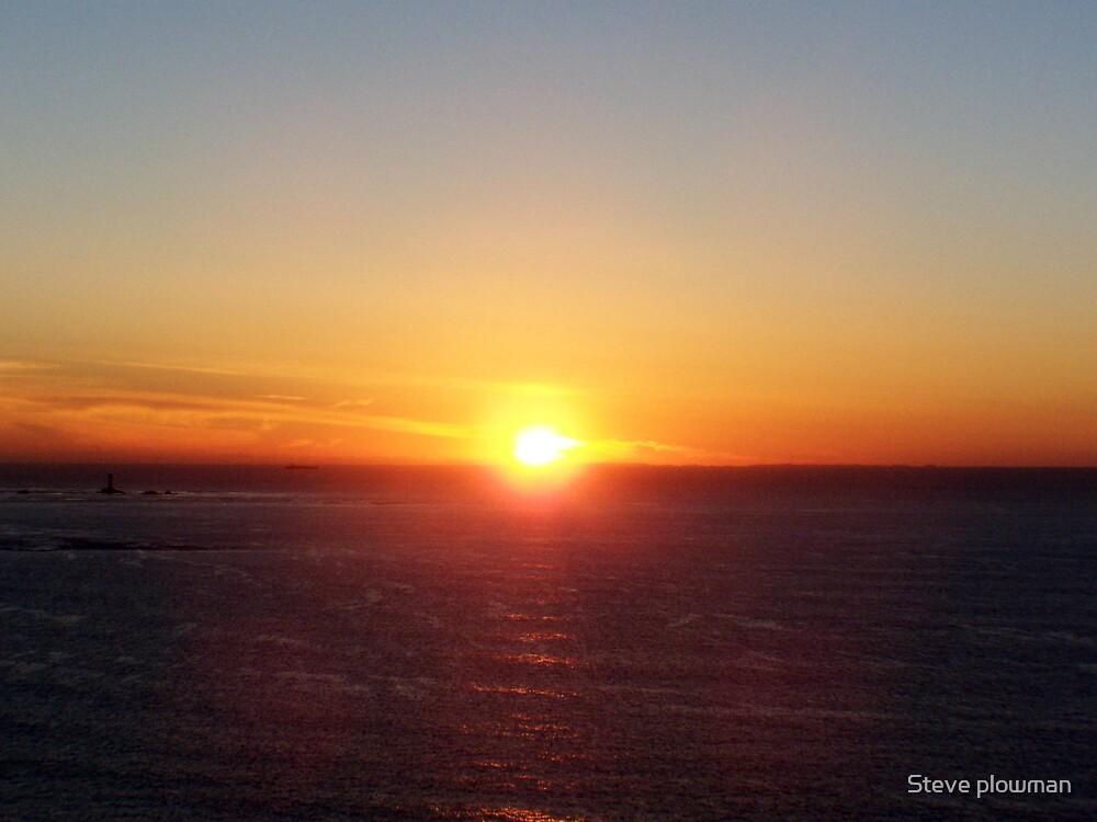 Cornish sunset by Steve plowman