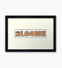 Melee Barrel Framed Print