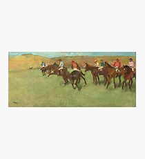 Edgar Degas - At The Races Before The Start (1875 - 1885) Photographic Print