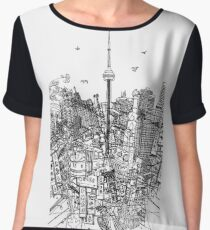 Toronto! (Version #2) Women's Chiffon Top