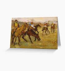 Edgar Degas - Before The Race Greeting Card