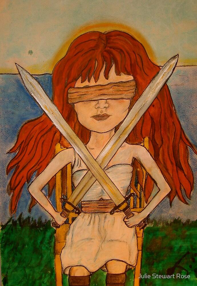 Two of Swords - Tarot Illustration by Julie Stewart Rose