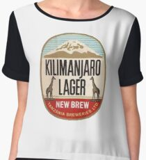 KILIMANJARO LAGER VINTAGE LOGO Women's Chiffon Top