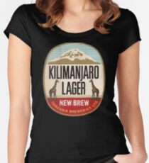 KILIMANJARO LAGER VINTAGE LOGO Women's Fitted Scoop T-Shirt