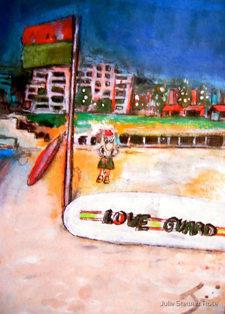 Christmas Love Guard at Coogee Beach by Julie Stewart Rose