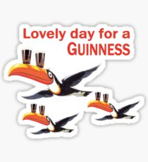 GUINNESS TOUCAN FLY LOGO Sticker