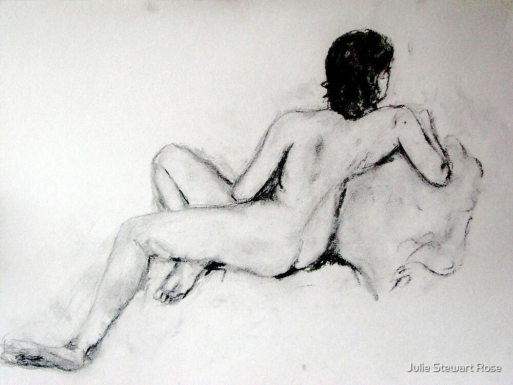Female Nude Charcoal by Julie Stewart Rose