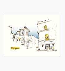 European street sketch Art Print