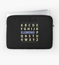 English Alphapbet ELEMENO Song Laptop Sleeve