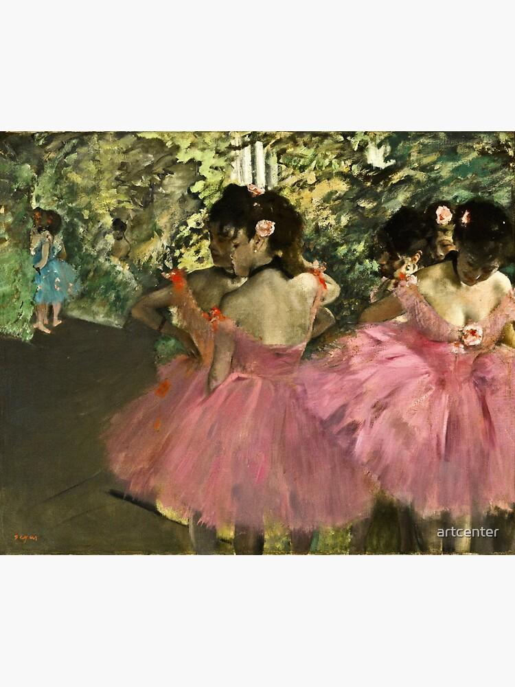 Edgar Degas - Dancers In Pink by artcenter