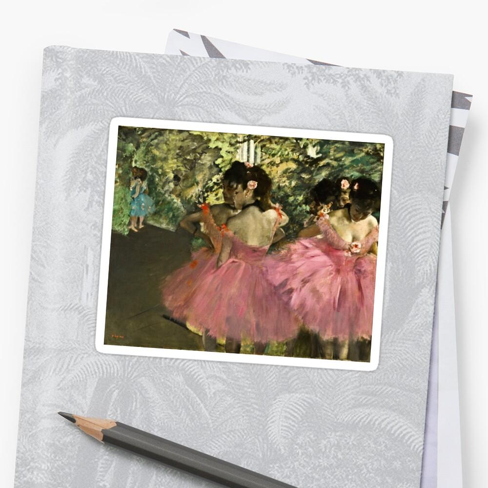 Edgar Degas - Dancers In Pink Stickers