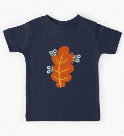 Cute Bugs Eating Autumn Leaves Kids Clothes