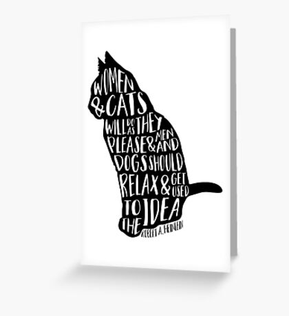 Women and Cats Greeting Card