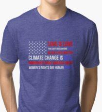 Love Is Love Black Lives Anti Trump  Tri-blend T-Shirt