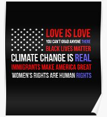 Love Is Love Black Lives Anti Trump  Poster