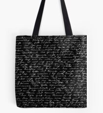 Handwriting  Tote Bag