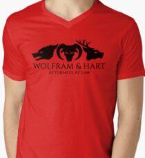 Wolfram & Hart Men's V-Neck T-Shirt