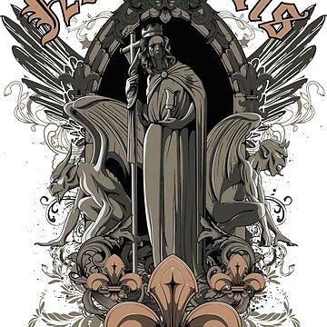 Monsters and Necropolis teeshirt by Stylishfashion