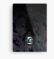 LG - The Modern Man - Art Toy Artwork - Camouflage (Lilac) Metal Print