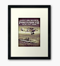 PORTSMOUTH; Vintage Fleet Air Review Print Framed Print