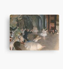 Edgar Degas - The Rehearsal Onstage Canvas Print