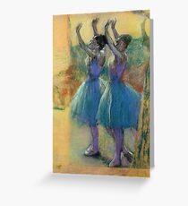 Edgar Degas - Two Blue Dancers Greeting Card