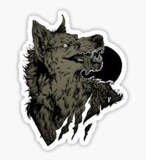 Werewolf - black Sticker