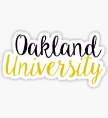 Oakland University Sticker Sticker