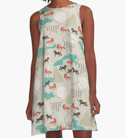 Wild Horses A-Line Dress