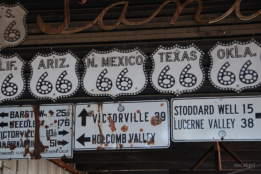 Route 66 signs by socalgirl