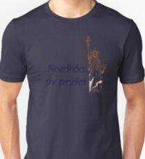 Nevertheless She Persisted Statue of Liberty (Navy) Unisex T-Shirt