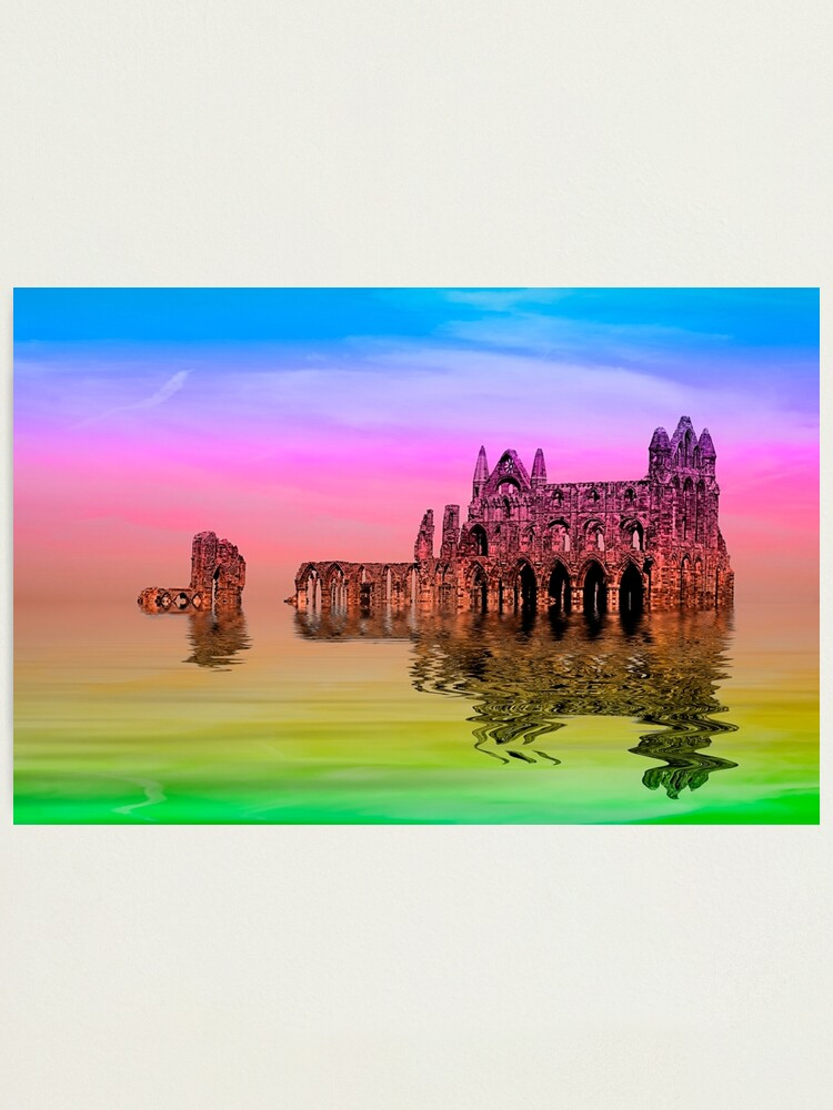 Alternate view of Whitby Abbey Photographic Print