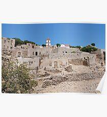 Village ruins, Tilos island Poster