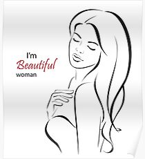I'm beautiful woman Poster