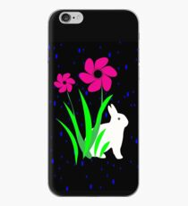 White Bunny with Flowers by Julie Everhart iPhone Case
