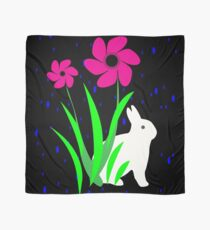 White Bunny with Flowers by Julie Everhart Scarf