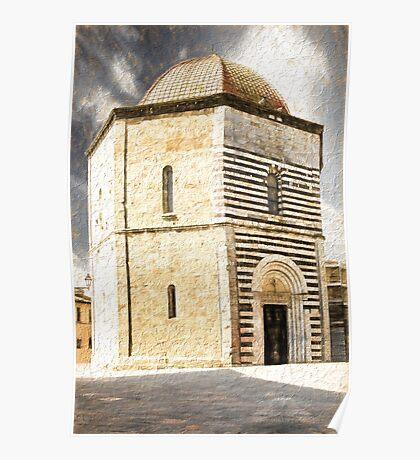 San Giovanni Baptistery, Volterra, Italy Poster