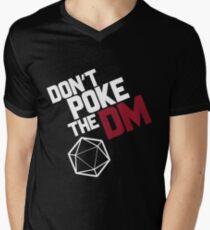 Camiseta para hombre de cuello en v No empuje el DM