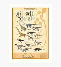 Dinosaurs and Pterosaurs of the Wessex Formation, England Art Print