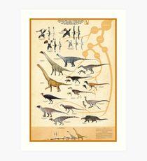 Dinosaurier und Pterosaurier der Wessex Formation, England Kunstdruck