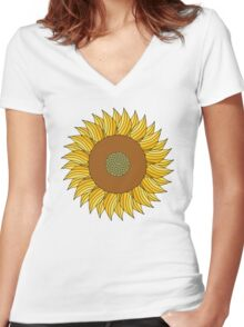 SUNNY DAY Women's Fitted V-Neck T-Shirt