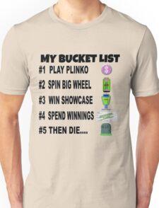 Price is Right Novelty - Bucket List Unisex T-Shirt