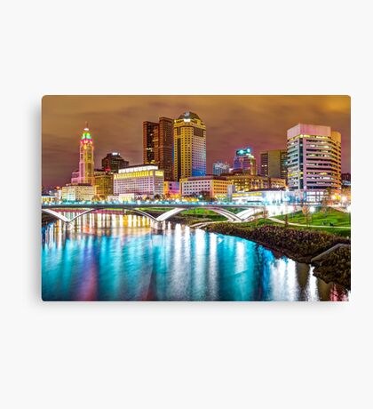 Capitol City Lights - Columbus Ohio Skyline Canvas Print