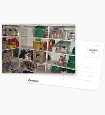 Hostel Food Shelves Postcards